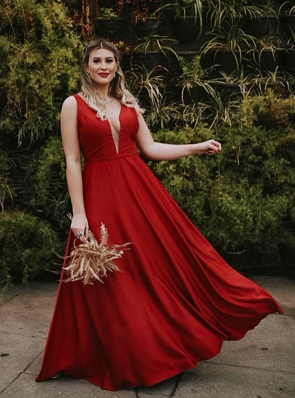 Niina Secrets vestido de festa marsala madrinha de casamento