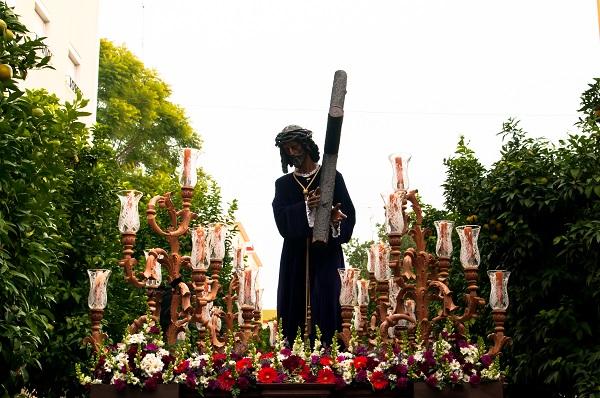 Horario e Itinerario de la Salida Procesional del Cristo de la Bondad del Carmen de San Leandro. Sevilla 09 de Noviembre del 2019