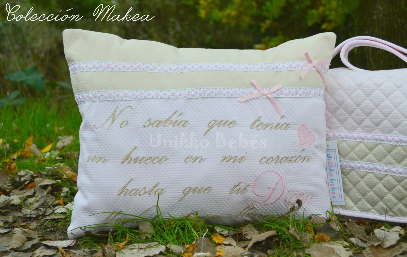 Coj n con frase personalizado unikko beb s sacos de - Cojines para habitacion de bebe ...