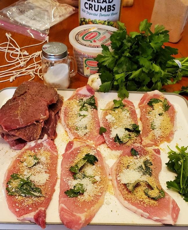 ingredients for braciole stuffed meat rolls