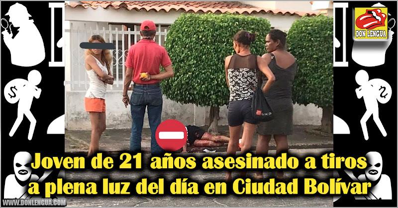Joven de 21 años asesinado a tiros a plena luz del día en Ciudad Bolívar