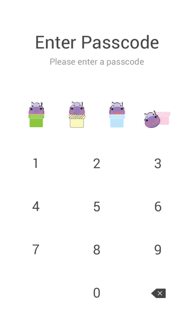 Cute hippo theme v.1