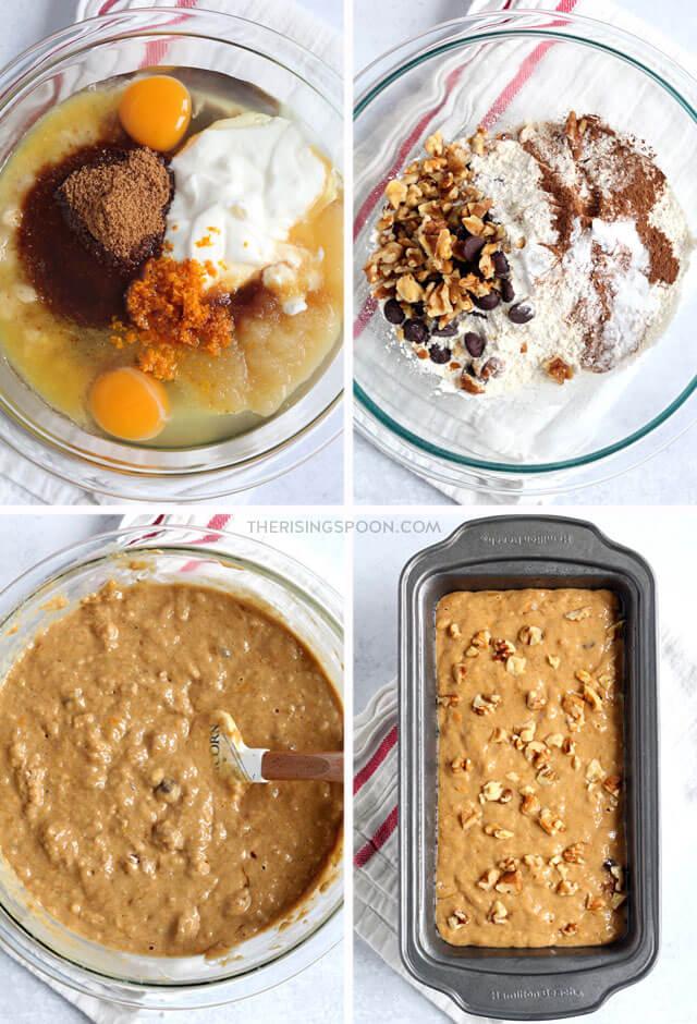 How to Make Healthy Banana Bread with Applesauce & Yogurt (Easy Recipe)