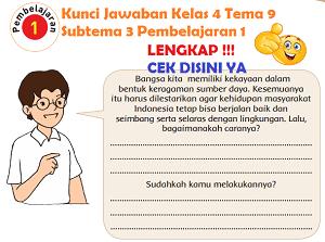 Kunci Jawaban Kelas 4 Tema 9 Subtema 3 Pembelajaran 1 www.simplenews.me