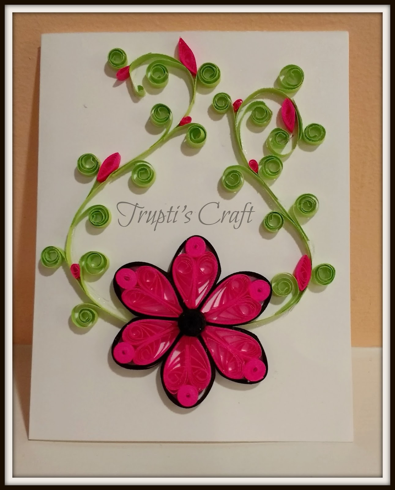 Peachy Truptis Craft Paper Quilling Greeting Card Personalised Birthday Cards Cominlily Jamesorg