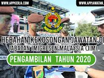 Jawatan Kosong Terkini di Jabatan Imigresen Malaysia (JIM)
