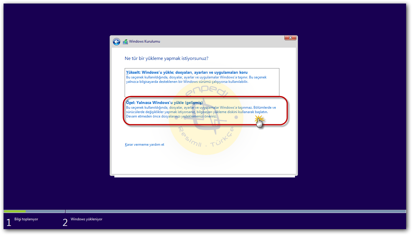 Bu sürücüye Windows yüklemek mümkün değil (GPT). Windows 7yi bir GPT dosya sistemi ile bir dizüstü bilgisayara yükleme