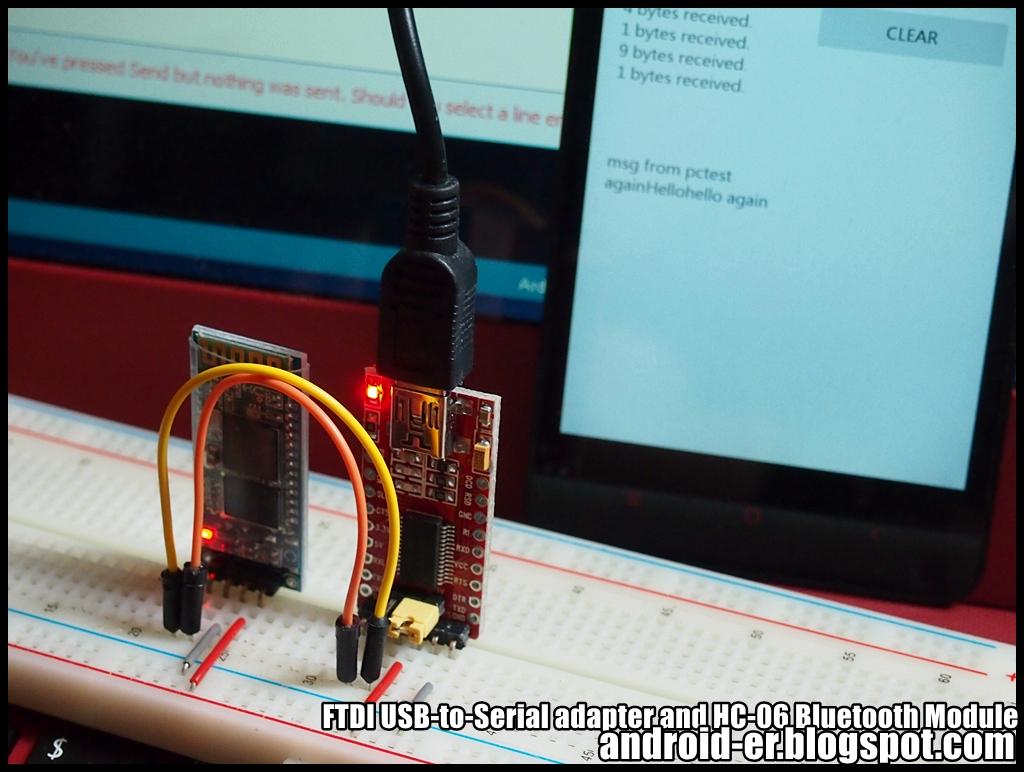 Android Bluetooth connect PC (running Windows10) via HC-06 BT Module