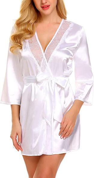 Women's Short Satin Robe