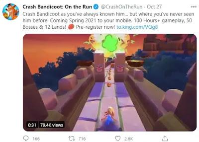 تحميل لعبة Crash Bandicoot On the Run  على الاندرويد android