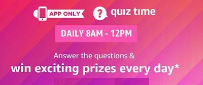 Amazon Quiz 3rd January 2020