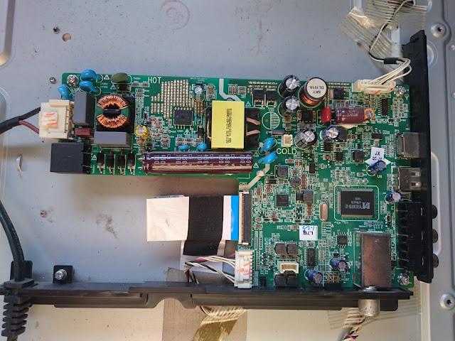 Mainboard Integrated PSU TV LED COOCAA 32-Inch Model 32E39
