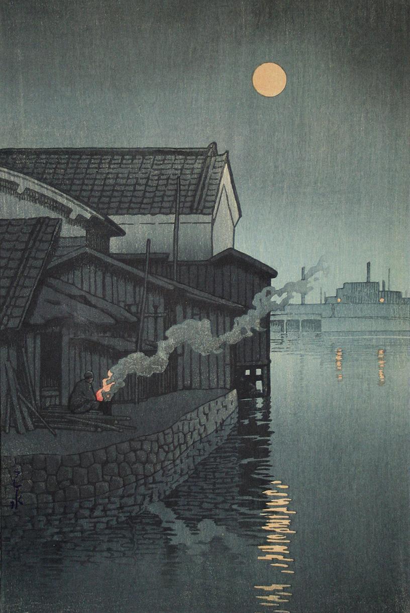 日本版画家Kawase Hasui | 夜