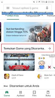 halaman depan google play store