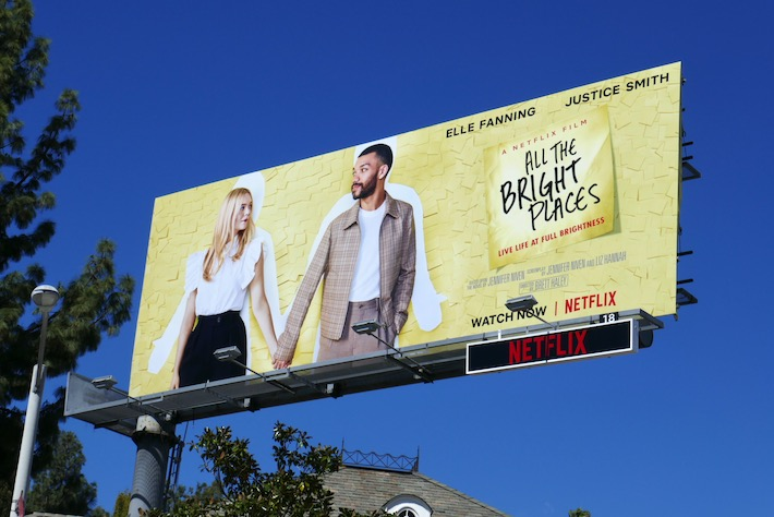 All The Bright Places movie billboard