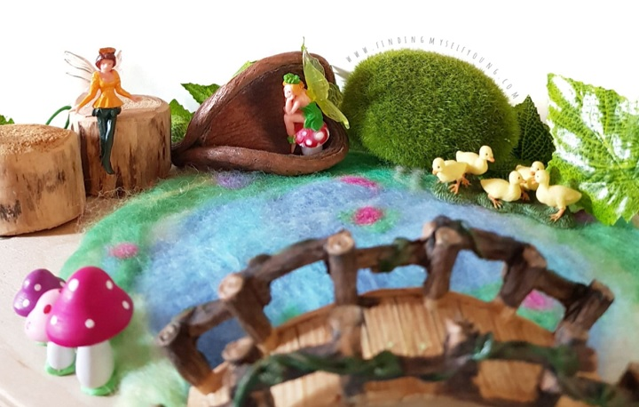 fairy village small world play scene