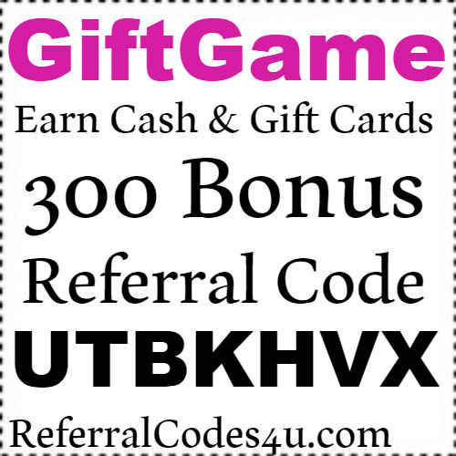 300 Bonus Pts Gift Game App Referral Code, Invite Code and Sign up bonus 2018-2019