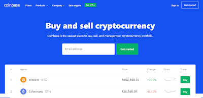 Coinbase home site pic