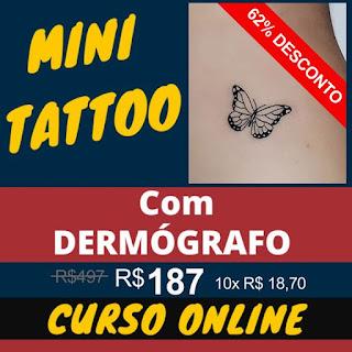 Curso Online de Mini Tatuagens - com Luau Tattoo