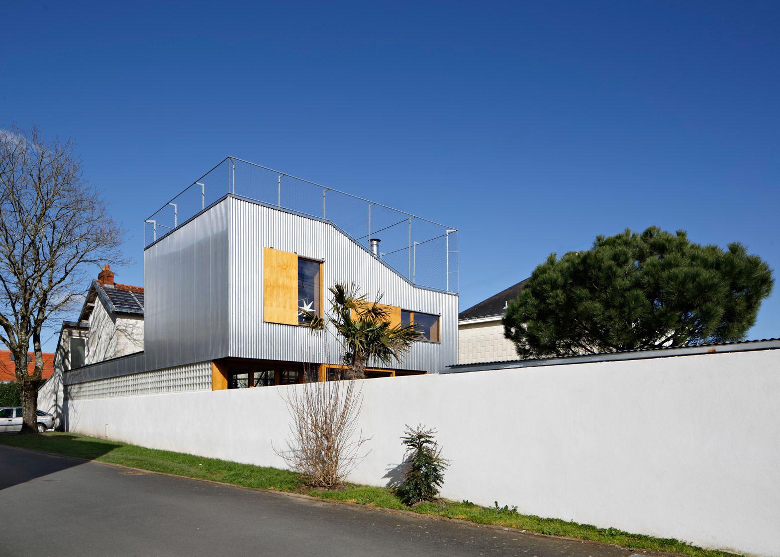 93246ad16b9 A Stunning Corrugated Metal Home in Nantes, France 1930's | BlueisKewl