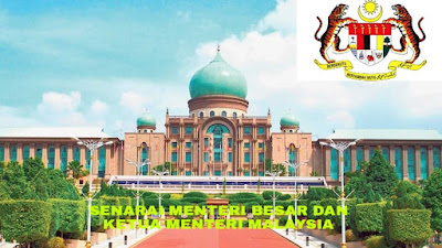 Senarai Menteri Besar dan Ketua Menteri Malaysia 2018