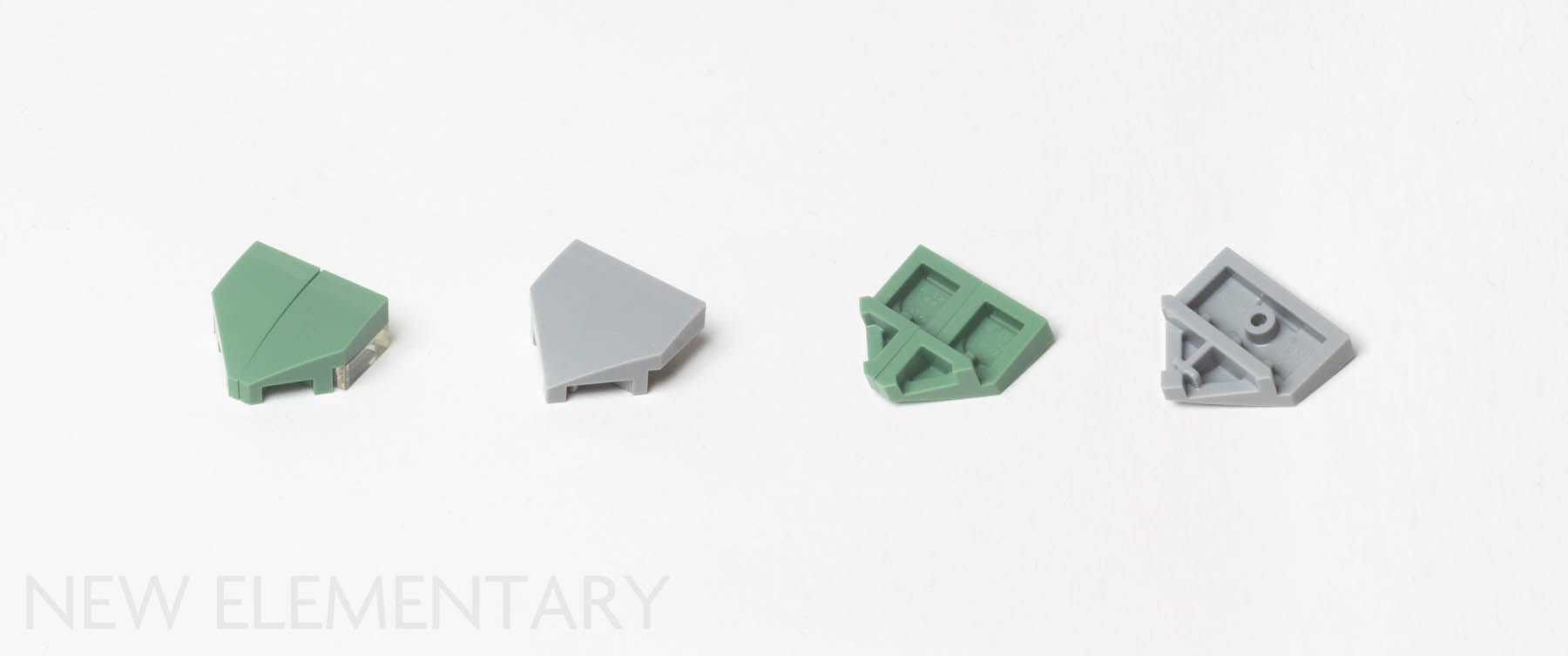6 2x2 White Inverted Rounded Bottom Bow Bricks ~ New Lego Parts