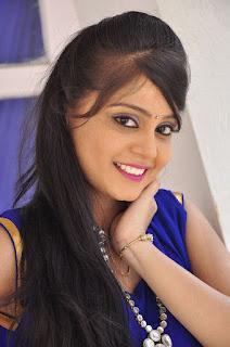 Actress Harisha Krishna Stills in Beautiful Blue Chudiddar  0005.jpg