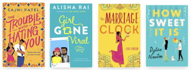 four cover images that correspond to the titles listed below