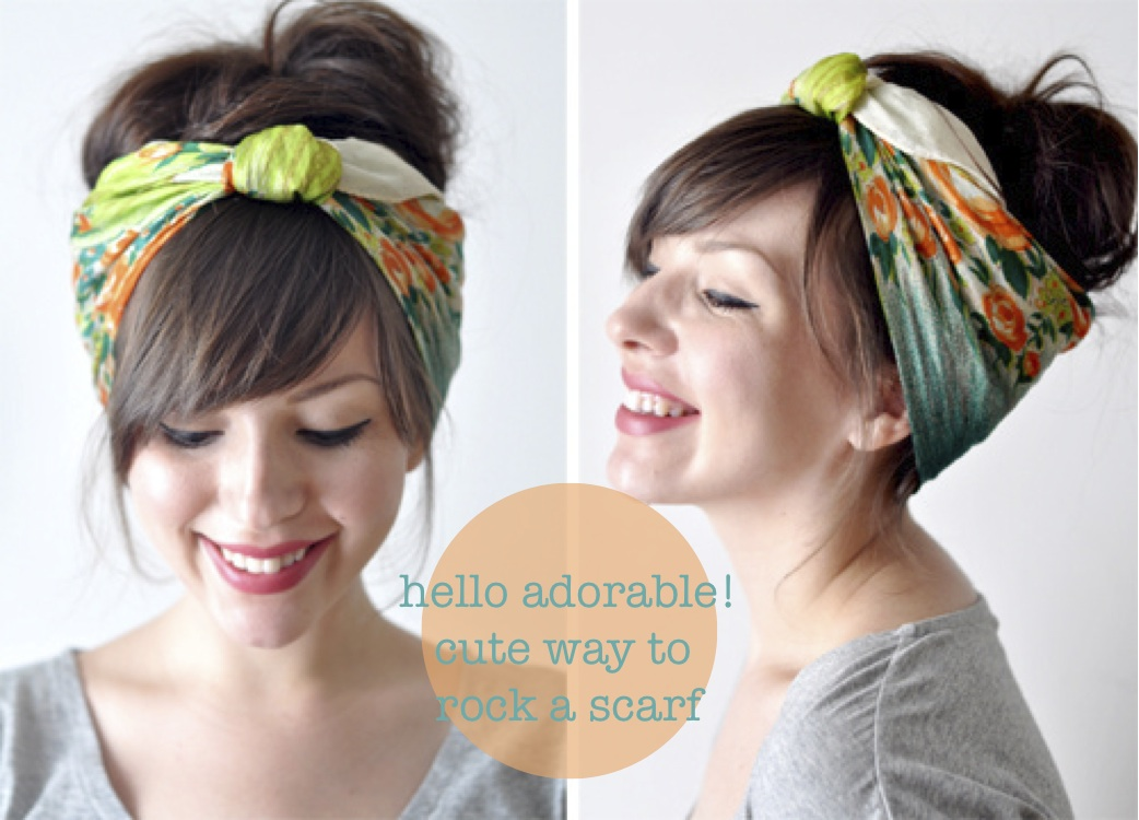 and cute way to wear your hair on those not so clean days check this  Cute Ways To Wear Scarves In Your Hair