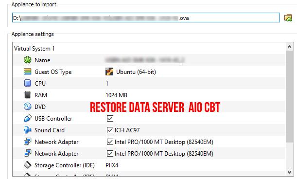 Cara Restore Data Server AIOCBT