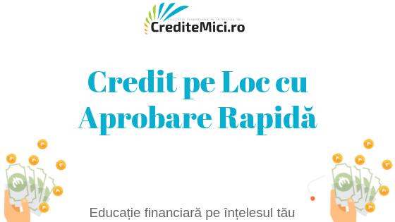 Credit bani pe loc online