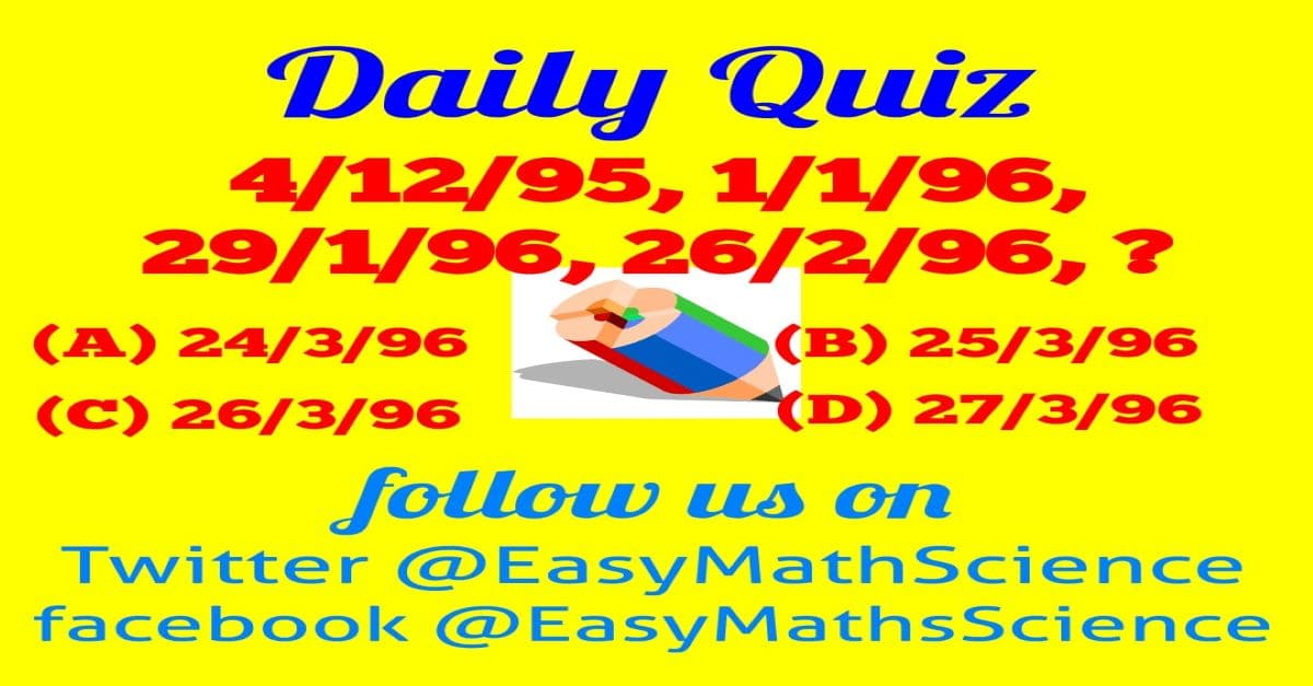 Maths Daily Quiz Question 2
