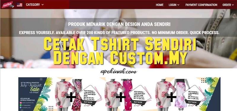 Cetak Tshirt Sendiri Dengan Custom.My