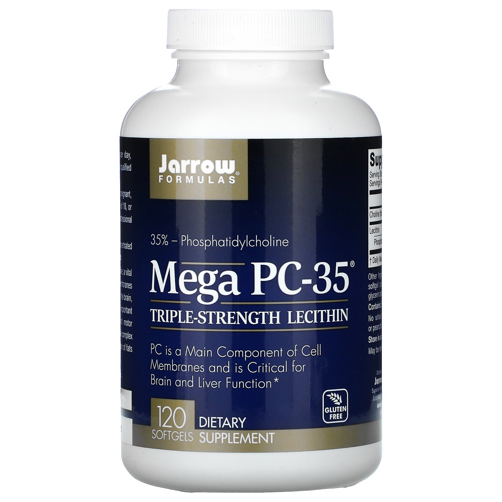 Jarrow Formulas, Mega PC-35, 120 мягких таблеток