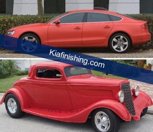 mobil merah doff
