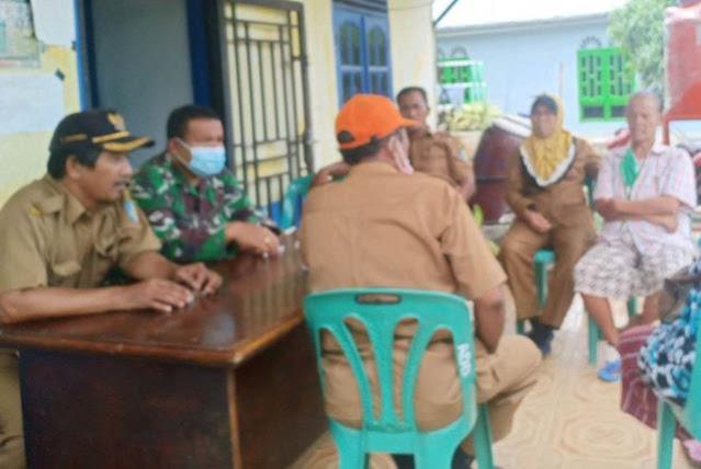 Bersama Perangkat Nagori Bandar Siantar, Personel Kodim 0207/Simalungun Sosialisasi Keamanan Lingkungan di Bulan Ramadhan