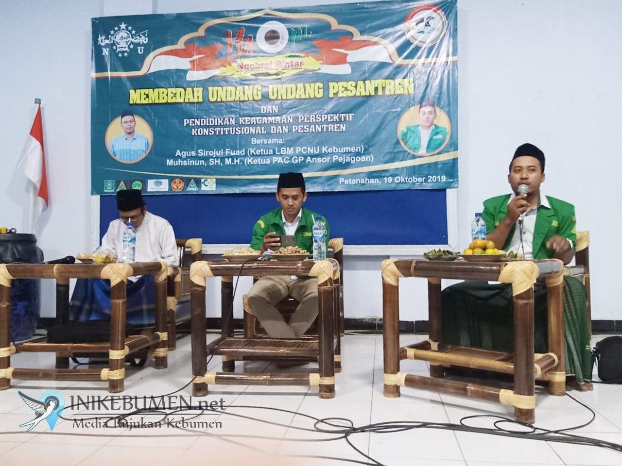 Ansor Petanahan Desak Bupati dan DPRD Kebumen Segera Susun Perda Pesantren