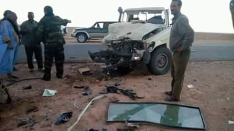 حادث مروري اليم يودي بحياة أشخاص على الطريق الرابط بين ولايتي اوسرد والعيون