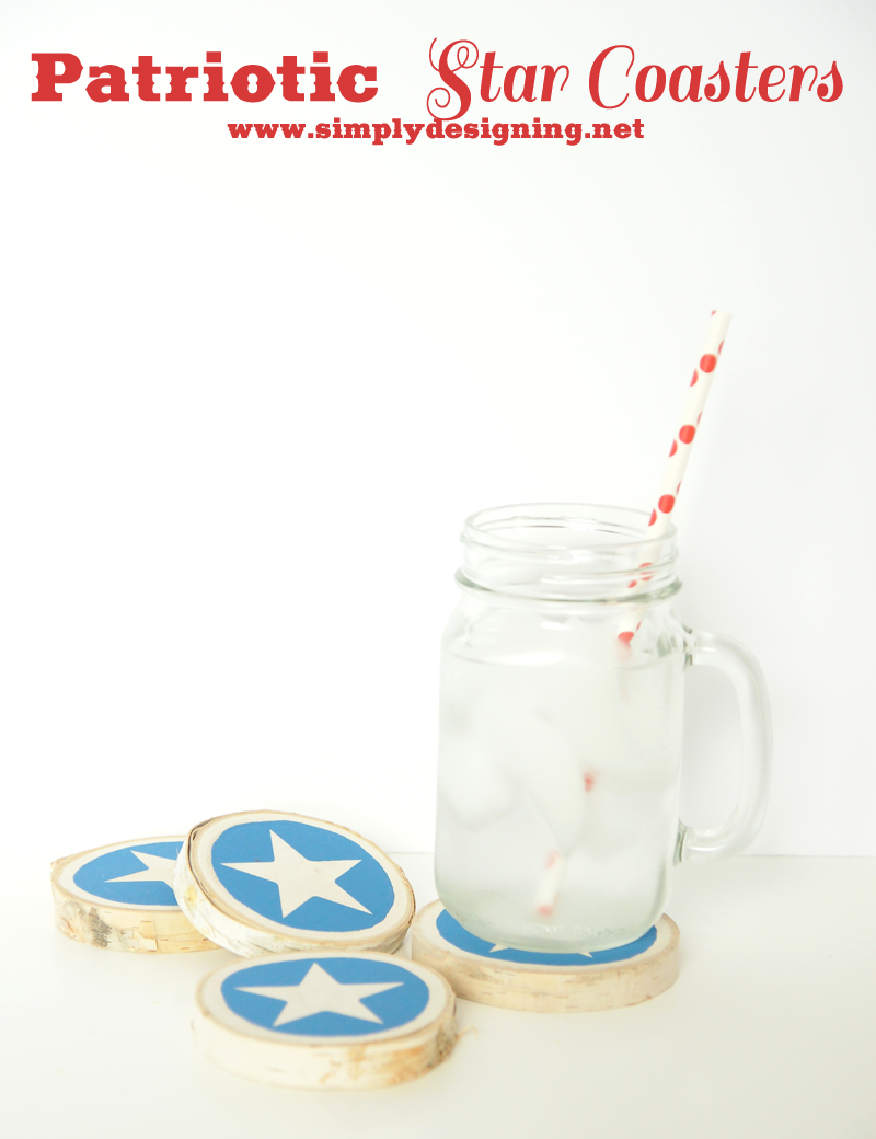 Star Coasters | #patriotic #4thofJuly #crafts #chalkpaint
