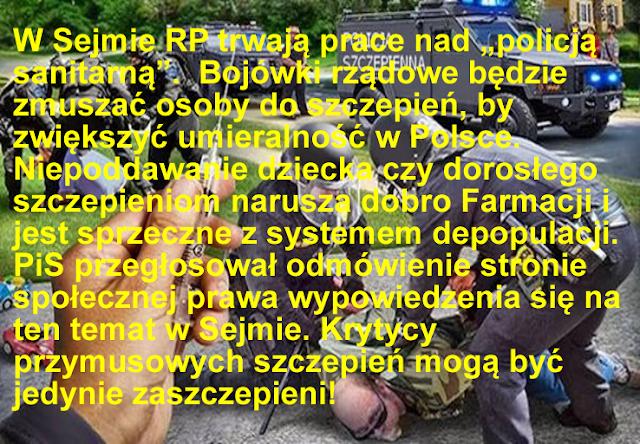 policja szczepienna bezprawie w Polsce