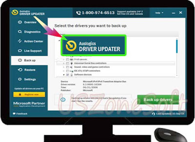Auslogics Driver Updater free download- Missing, Error And Corrupted Drivers Scanner than Fix or Repair Tool, PC system, software or games driver booster. backup- restored PC driver software