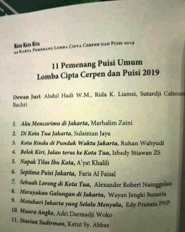 Tahniah, Puisi Marhalim Zaini Raih Juara Nasional