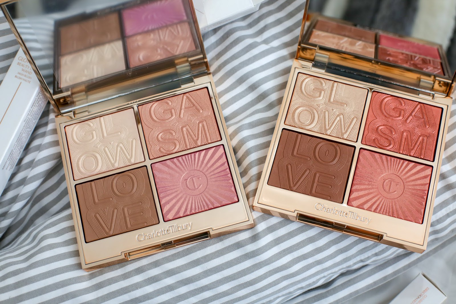 Charlotte Tilbury Lovegasm And Lightgasm Face Palettes