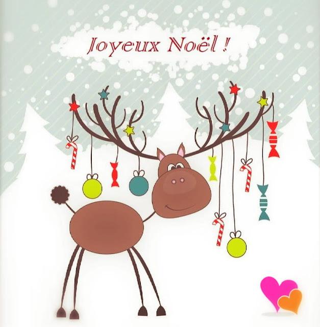 Carte de vœux à envoyer pour la célébration traditionnelle de Noël