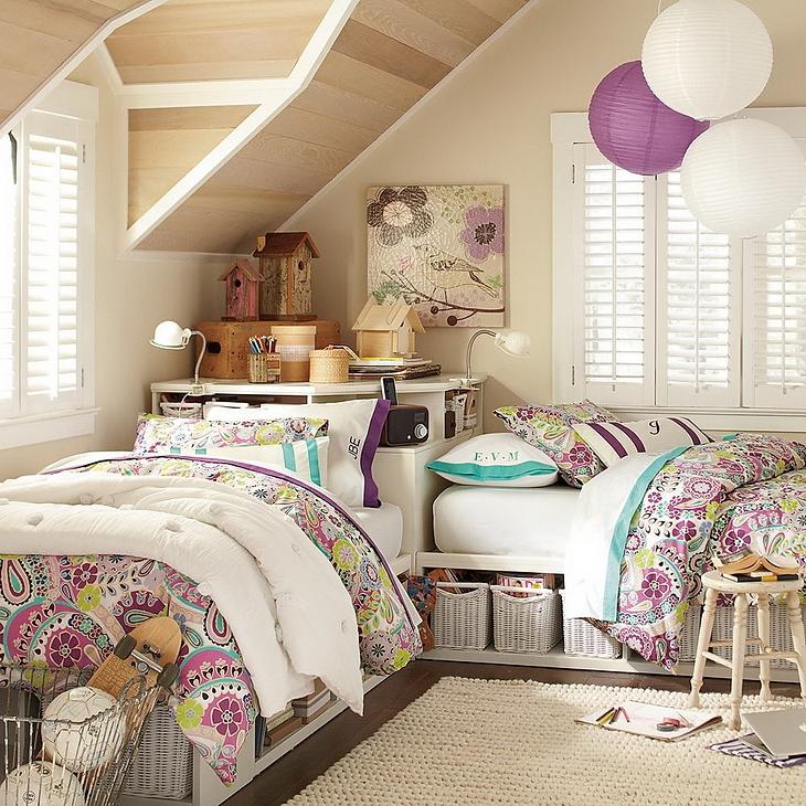 Dormitorios para hermanas adolescentes dormitorios con for Recamaras rusticas juveniles