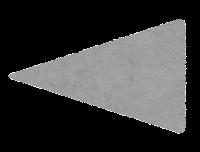 二等辺三角形のイラスト