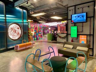Reception area at lyf Funan