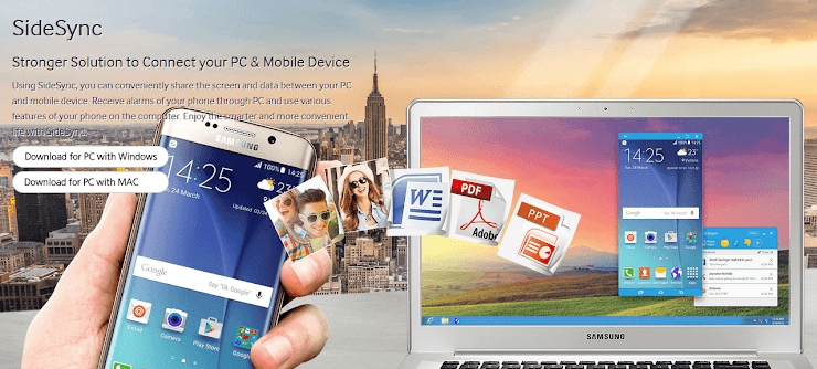 SideSync software for accessing Android devices