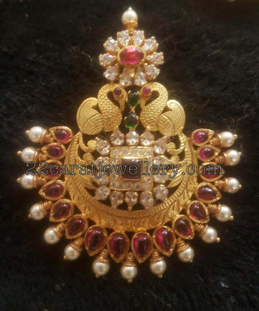 Unique Silver Kundan Pendants