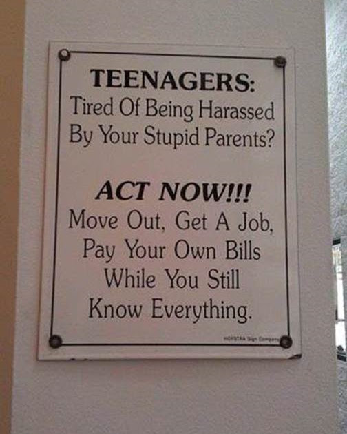 Teenagers - Act Now sign...